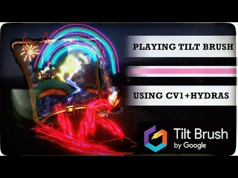 Google TILT BRUSH - Create Your Masterpiece! | Oculus Rift + Hydras