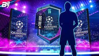 CHAMPIONS LEAGUE TOTGS 100K PACK LIGHTNING ROUND! | FIFA 19 ULTIMATE TEAM PACK OPENING