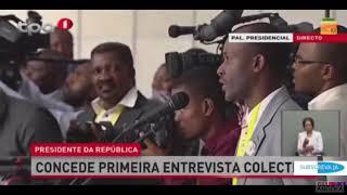 Primeira entrevista Colectiva do PR de Angola João Lourenço