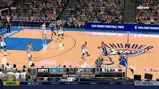 NBA 2K14 PC 2014 Roster │Warriors vs Thunder│ 4th Quarter WILD FINISH HD  Gameplay