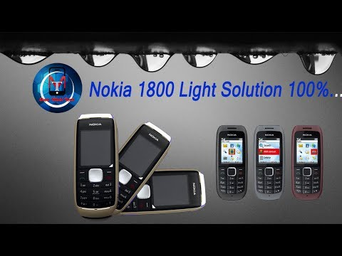 Nokia 1800 Light 100% Solution..