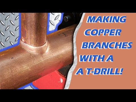 Making Copper Branches With a T-Drill!