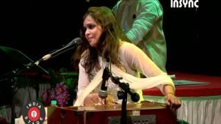 "Pooja Gaitonde performing song ""Maula mere lele meri jaan"" for Sur Sangat."