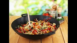 Острая китайская лапша в воке/Постный ужин/За 10 минут