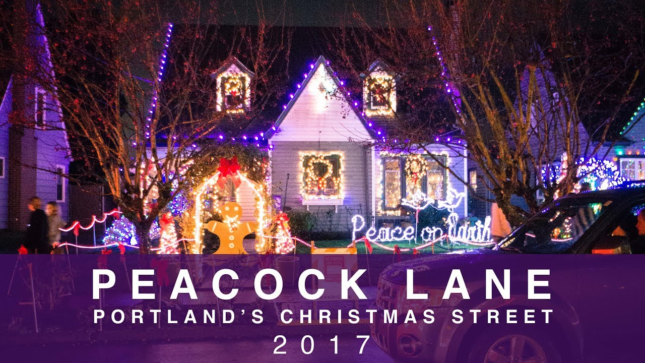peacock lane portland oregon christmas lights 2017 sony a6000 zhiyun crane low light