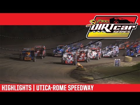 Super DIRTcar Series Big Block Modifieds Utica-Rome Speedway July 8, 2018 | HIGHLIGHTS