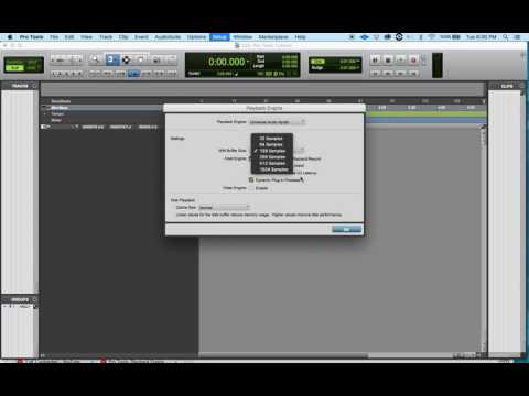 Playback Engine Setup: How To Set The Audio Engine In Pro Tools