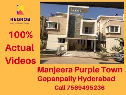 Manjeera Purple Town Gopanpally Hyderabad | Call 7569495236 | Actual Videos | April, 2018