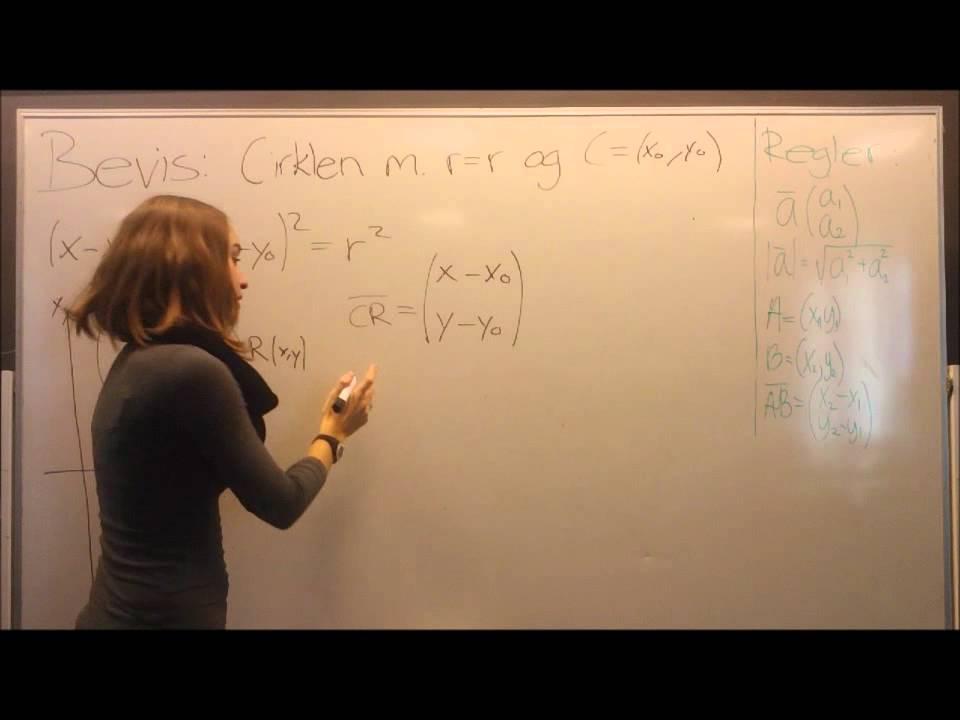 Video Matematik Cirklen r=r C(xo,yo)