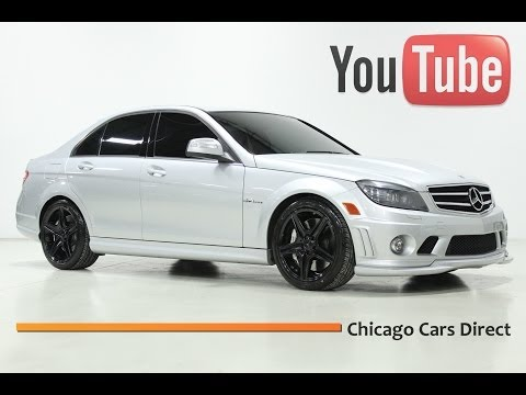 Chicago Cars Direct Presents a 2009 Mercedes-Benz C63 AMG. Iridium Silver/Black. X13439