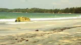 Relaxing Ocean Waves on Bintan Beach in Indonesia