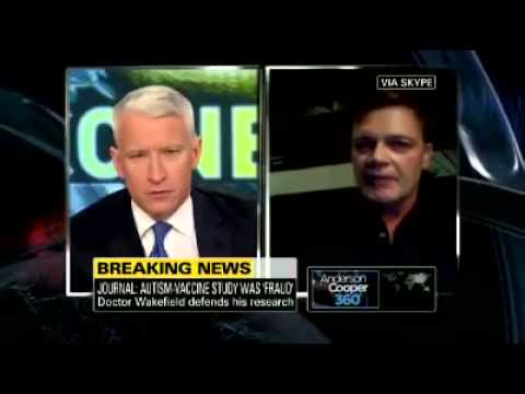 Anderson Cooper Interviews Andrew Wakefield, Fraud 1 of 2)