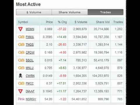 OTC Market TOP 10 Summary Jan 20 2011 MDMN FNMA CLDR MNDP NWTT GOIG.avi