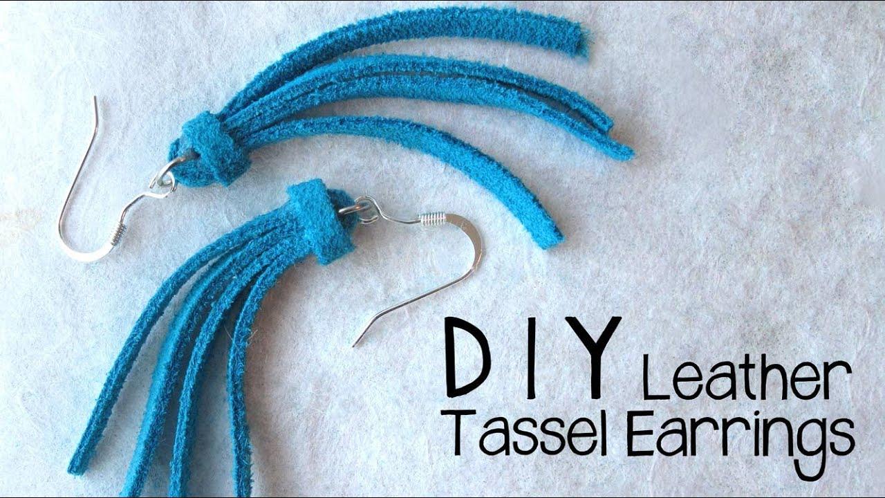 Diy Leather Tassel Earrings  Easy Jewelry Making Tutorial