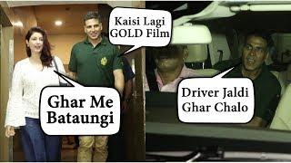 Twinkle Khanna First Review On Akshay Kumar Movie GOLD | Spotted Together At Special Screening