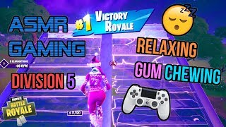 ASMR Gaming ???? Fortnite Relaxing Division 5 Gum Chewing ???????? Controller Sounds + Whispering ????