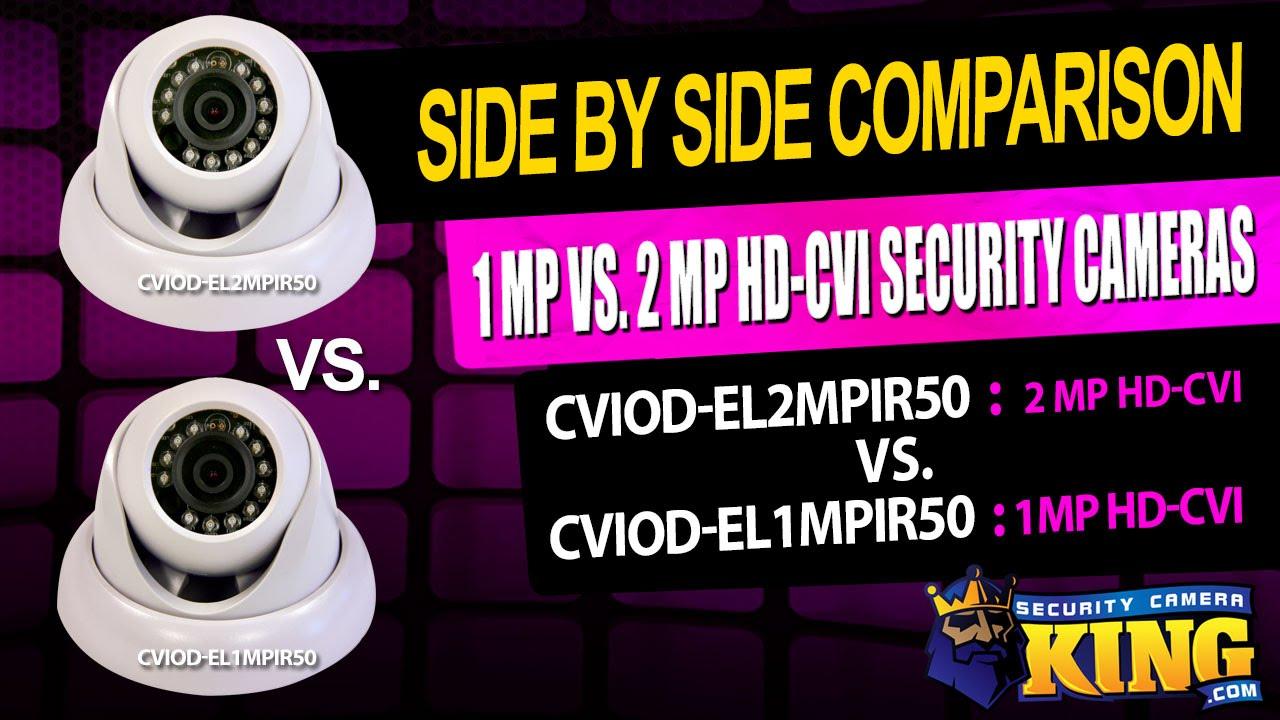 Side by Side Comparison - 1MP (720p) VS 2MP (1080p) HD-CVI