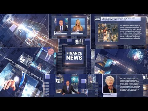 Finance News Broadcast Package After Effects Project Templat