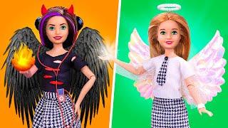 Angel vs Demon at School / 14 DIY Miniature School Supplies and Crafts