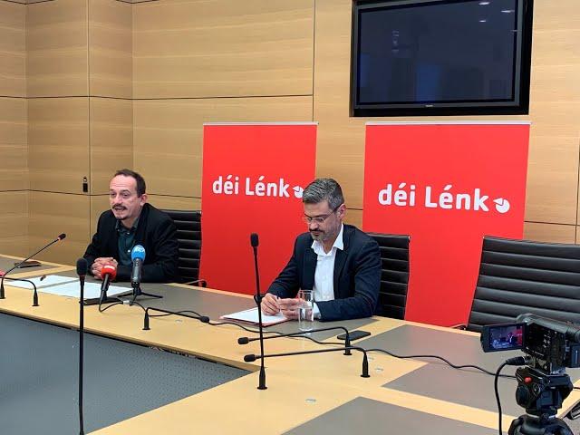 Pressekonferenz vun déi Lénk fir d'parlamentaresch Rentrée 2020/2021