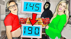 Matt vs. Rebecca Who Can Gain the Most Weight in 24 hours Challenge! (Defeat Hacker in Rare Mystery)