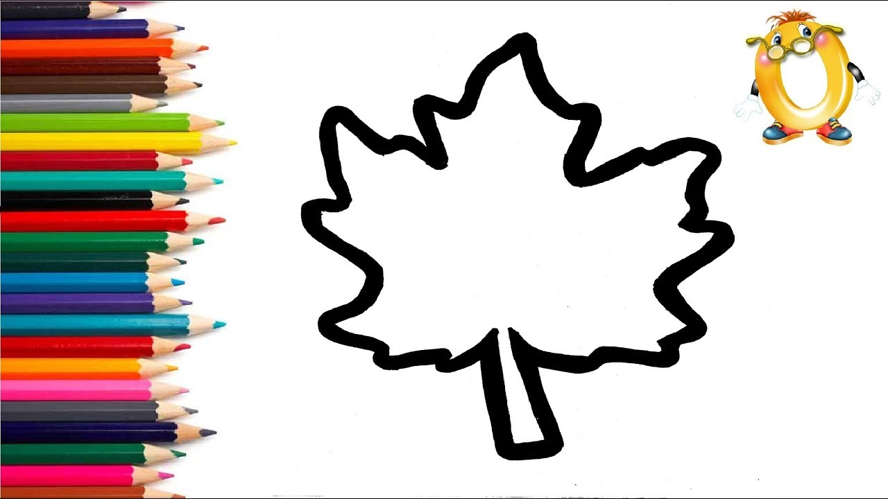 Раскраска для детей ЛИСТЬЯ. Мультик - Раскраска. Учим ...