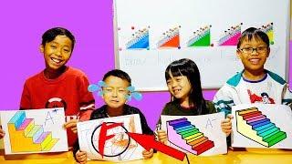 Hunter Kids Go To School Learn Colors Rainbow Stairs    Classroom Funny Nursery Rhymes