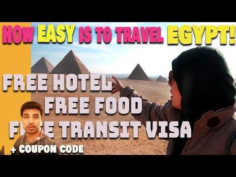 Egypt Travel Guide  Ep.1 | Egypt Transit Visa | Visa On Arrival At Cairo International Airport