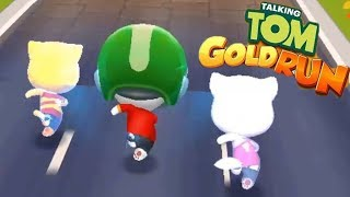 Talking Tom Gold Run Race fULL SCREEN TALKING HANK VS ABGELA VS GINGER