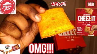 Pizza Hut STUFFED CHEEZ-IT PIZZA REVIEW!!!
