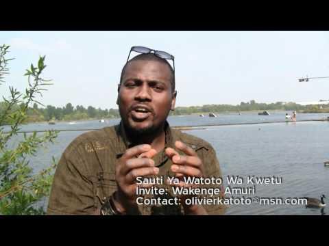"""Congo emission en Swahili, Wakenge Amuri K. """"Sauti Ya Watoto wa Kwetu"""""""