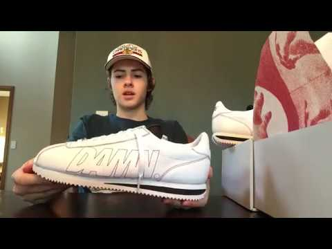 the latest 48ccb d7221 Nike Cortez Kenny 1 Shoe Unboxing, Kendrick Lamar Damn