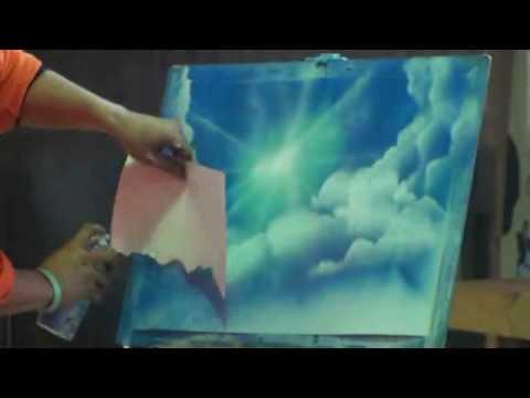 Spray Paint Art Cloud Stencil