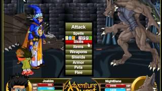aq adventure quest level 100 adventurer fast exp farming mage nightbane
