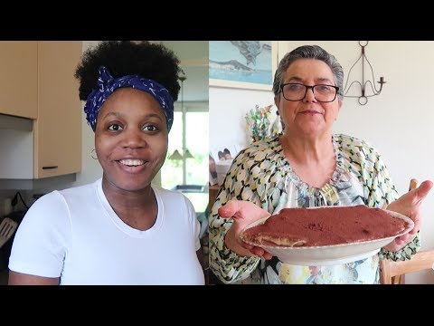 COOKING WITH MY MOTHER IN-LAW / HOW TO MAKE TIRAMISU !! Classic Italian Dessert Recept
