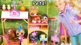 LOL Surprise Glam Surprise Pets Series 4 Glitter with Barbie Pet Doctor