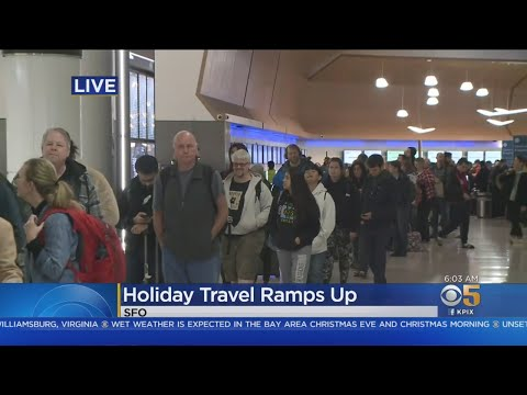 Long Lines At SFO With Pre-Christmas Travel Rush Underway