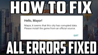 SimCity 👉 How To Fix Corrupted Data In Simcity    All Errors Fixed    Watch Full Video