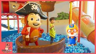 뽀로로 함께 코코몽 키즈 카페 장난감 어린이 놀이 ♡ 미끄럼틀 공놀이 테마파크 놀이터 죽전점 #1 Indoor Playground Fun | 말이야와아이들 MariAndKids