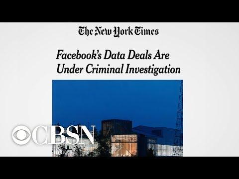 Facebook's data-sharing deals reportedly under criminal investigation