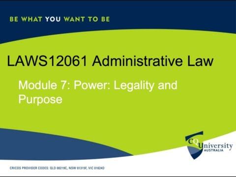 LAWS12601 Module 7