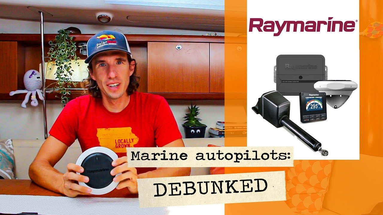 Sailboat tech: How does a marine autopilot work? (with the Raymarine  evolution ) //RTC #7