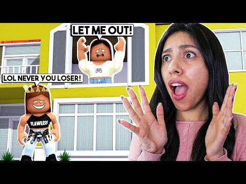 MY SISTER GOT REVENGE & LOCKED ME IN THE HOUSE FOR 24 HOURS! - Roblox Roleplay