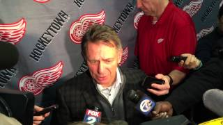 Red Wings GM Ken Holland addresses Cole, Zidlicky acquisitions (NHL Trade Deadline 2015)