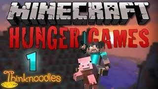 Minecraft: Hunger Games w/Thinknoodles - Game 1: First Deathmatch