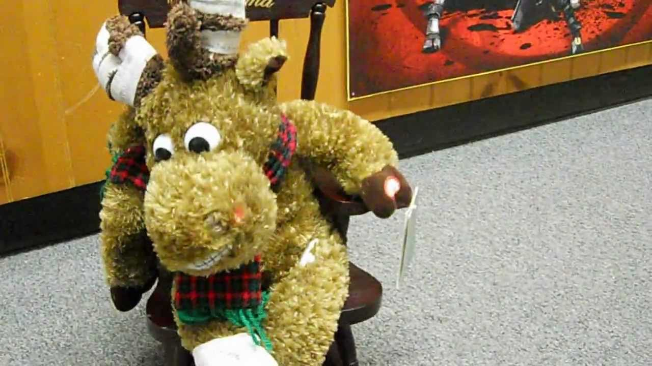 Grandma Got Run Over By A Reindeer Musical Animated Stuffed Animal Rocking  Chair   YouTube