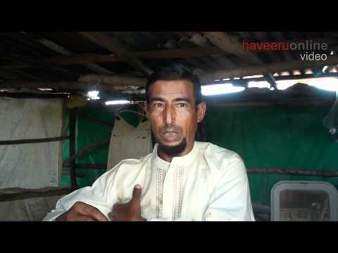 Migrant worker lives in the woods of Laamu atoll