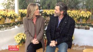 .@MaggieLawson and Timothy @Omundson from @Psych_USA visits @homeandfamilytv