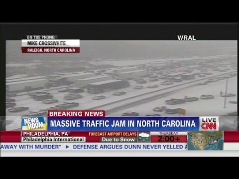 Weather Jams Roads In Raleigh