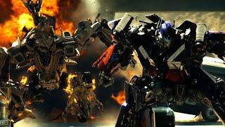 Transformers 1 - Optimus Prime vs Bonecrusher scene 4K